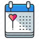 appointment, calendar, heart, love, relationship icon