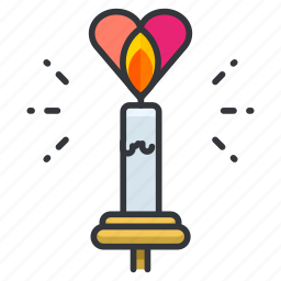 candle, heart, love, relationship, romance, romatic icon