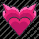 devil, evil, heart, love, relationship
