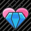 diamond, heart, jewel, love, relationship icon