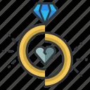 breakup, diamond, divorce, heart, love, relationship, ring