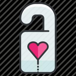 door, heart, hotel, love, relationship, sign icon