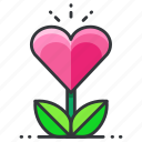 heart, plant, love, grow, relationship icon