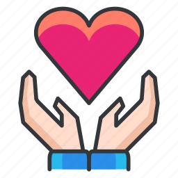 care, hands, heart, love, relationship icon