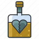 depression, drinking, heart, heartbreak, love, relationship icon
