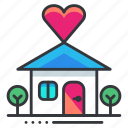 heart, home, house, love, relationship icon