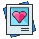 gallery, heart, image, love, relationship icon