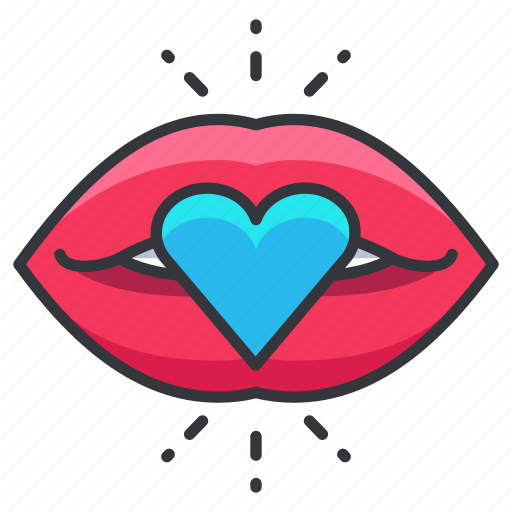 heart, kiss, lips, love, relationship icon