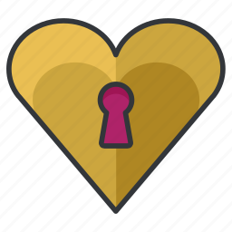 lock, love, relationship, safety, security icon