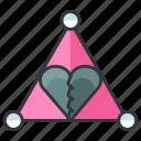 breakup, heartache, love, relationship, triangle