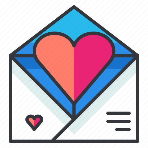 email, envelope, heart, love, mail, message, relationship icon