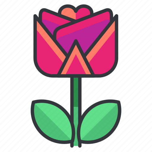 flower, love, nature, present, relationship, rose icon