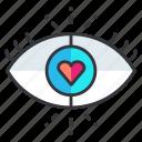 blind, eye, heart, love, view, vision