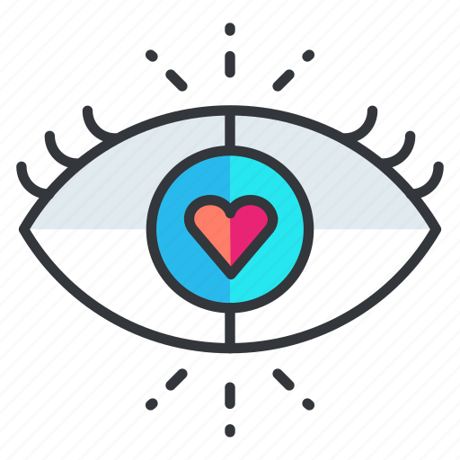 blind, eye, heart, love, view, vision icon