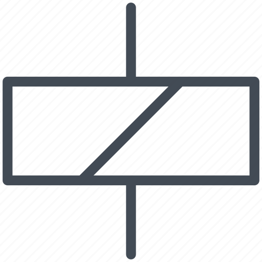 circuit, diagram, electric, electronic, relay icon