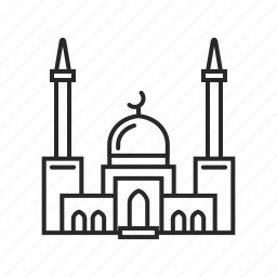 architecture, building, construction, house, mosque, muslim, religion icon