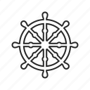 buddhism, dharma, religion, wheel icon