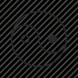 religion, religious, yang, yin icon