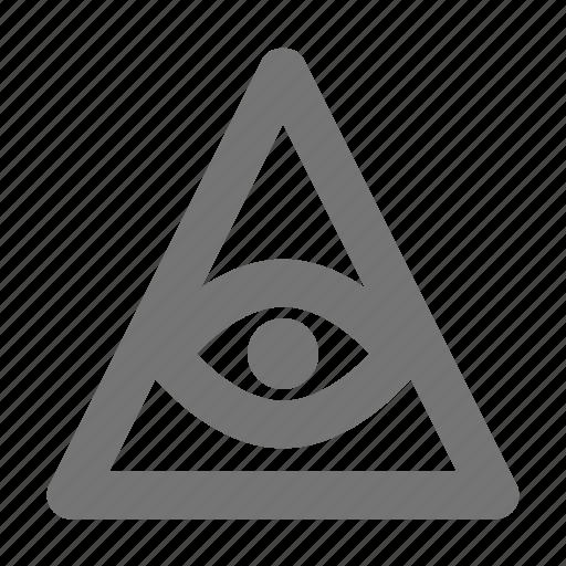 egypt, eye, pyramid, religion icon