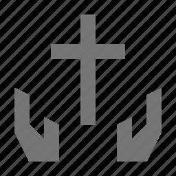 christian, religion, share icon