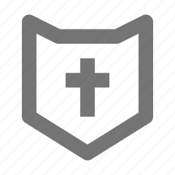 religion, shield icon