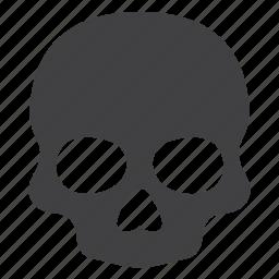 danger, dead, death, head, human, poison, skull icon