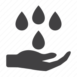 drop, pray, rain icon
