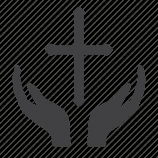 christian, cross, pray, religion, religious icon