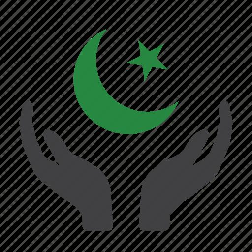 allah, cresent, islam, moon, muslim, pray, religion icon