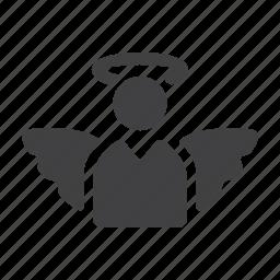 angel, christian, religion, religious, saint, wings icon