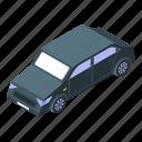 business, car, cartoon, isometric, retro, sedan, silhouette