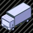 business, car, cartoon, isometric, parcel, silhouette, truck