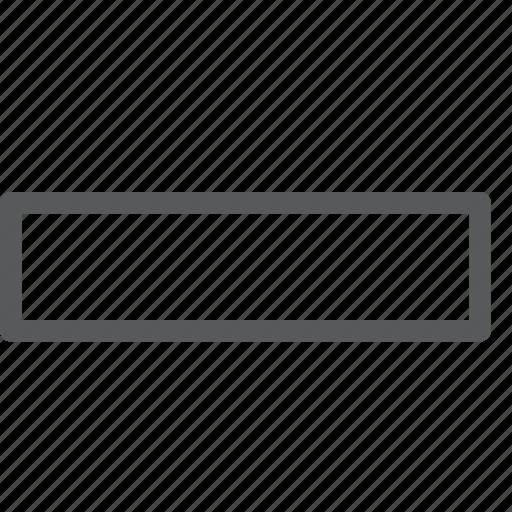 delete, minimise, minus, reduce, remove, subtract, thick icon