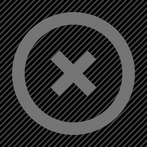 cancel, circle, close, delete, disable, discard, erase, remove icon