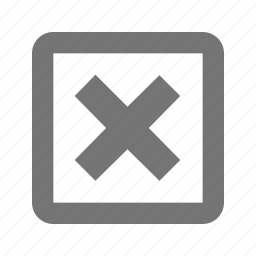 cancel, close, delete, disable, discard, erase, remove, square icon