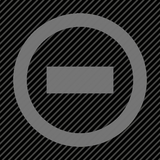 circle, delete, minimize, minus, negative, reduce, remove, subtract icon