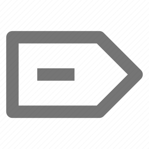 minimize, minus, remove, tab icon