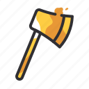 axe, construction, equipment, tool, tools icon