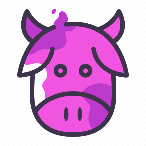 cow, food, gastronomy, grass fed, meat icon