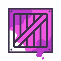box, cart, crate, delivery, shipping icon
