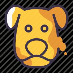 animal, cute, dog, mammal, pet, petshop icon