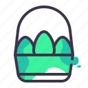 basket, carry, container, egg, eggs icon