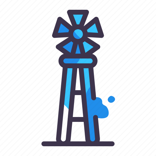 ecology, electric, energy, metal, object, power, windmill icon