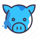 animal, bank, farm, money, pig icon