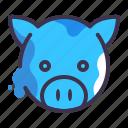 pig, animal, bank, farm, money