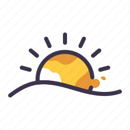 summer, sun, sunny, sunrise, weather icon