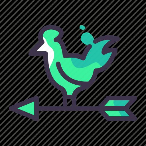direction, location, navigation, pointer, weathervane icon