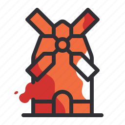 country, location, marker, nation, pointer, windmill icon
