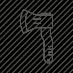 axe, hatchet, renovation, repair, tool icon