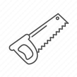 cutting, renovation, repair, saw, tool icon
